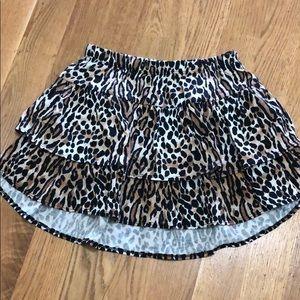 NWOT Hi-Low Leopard Skirt, size 8